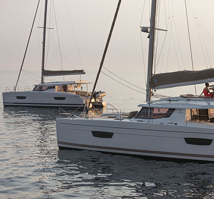 12/09/2016, Cannes (FRA,06), Chantier Fountaine-Pajot, New branding on Helia 44 and Lucia 40